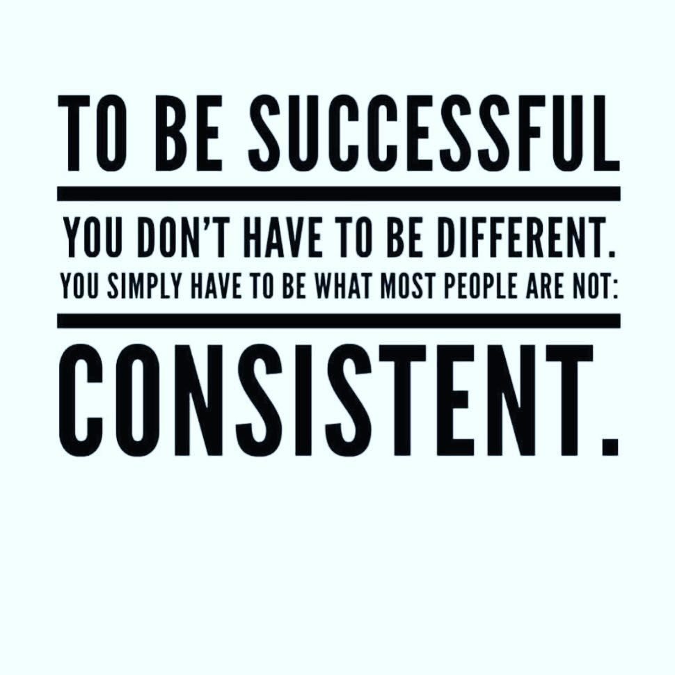 True Indeed To Be Successful We Have To Be Consistent Cons Motivational Quotes For Working Out Daily Motivational Quotes Discipline Quotes
