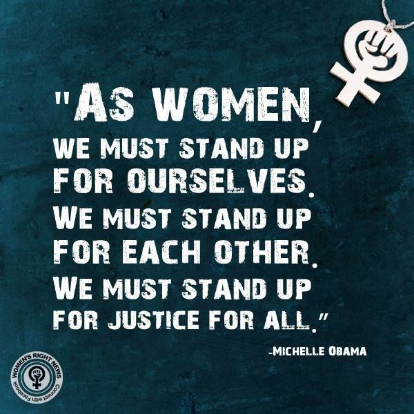 """Womens Rights Quotes We Must Life Each Other Up""""  Women's History Month  March 2015"""