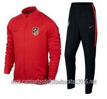 camisetas de fútbol Nike chaqueta Atletico Madrid 2016 rojo €35.99