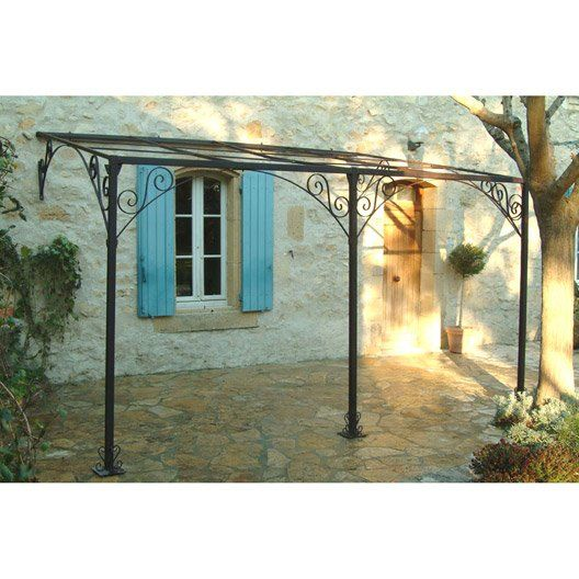 Pergola Adossee Andalouse Fer Forge Rouille 12 M Pergola Murale Pergola Fer Pergola Fer Forge