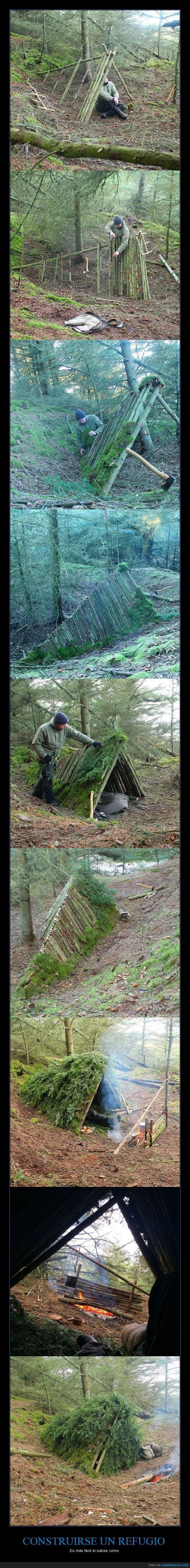 Photo of Wilderness Survival Merit Badge…thought into action.