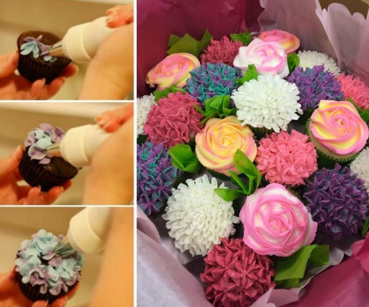 Cupcake bouquet tutorial with video cake frostings and cupcake bouquet tutorial thats an easy diy and makes a wonderful gift for family and friends izmirmasajfo