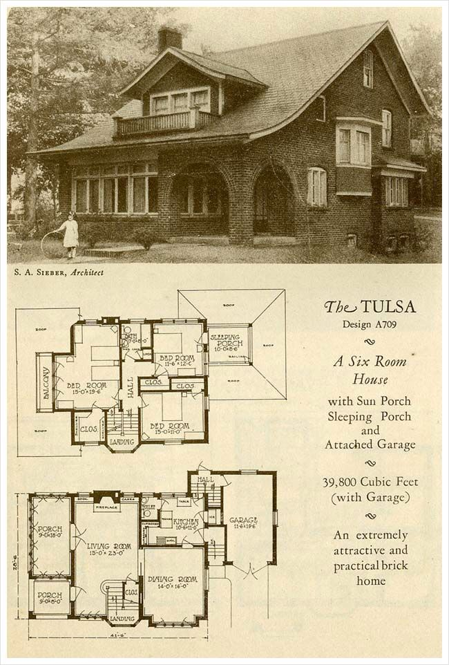 The tulsa 1927 catalog homes pinterest for Tulsa home builders floor plans