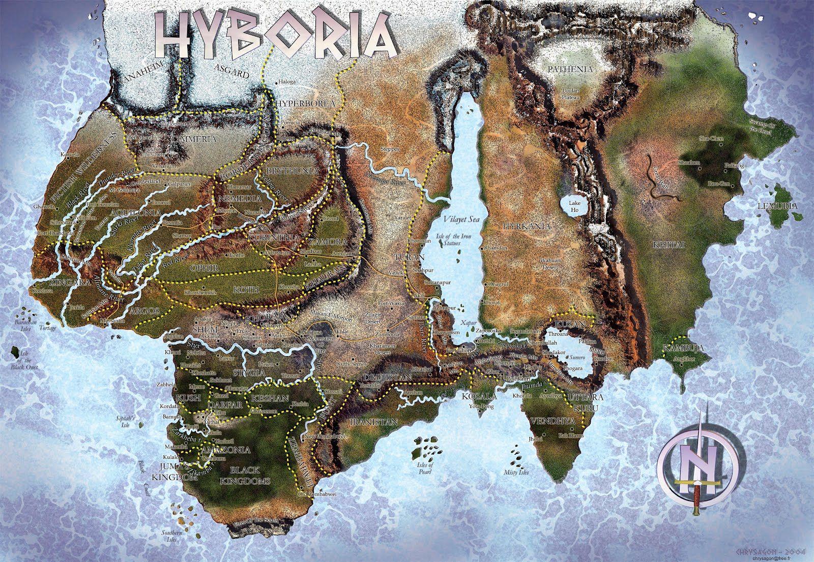 Fantasy World Maps Westeros Hyboria Fantasy World Map Conan The Barbarian Barbarian
