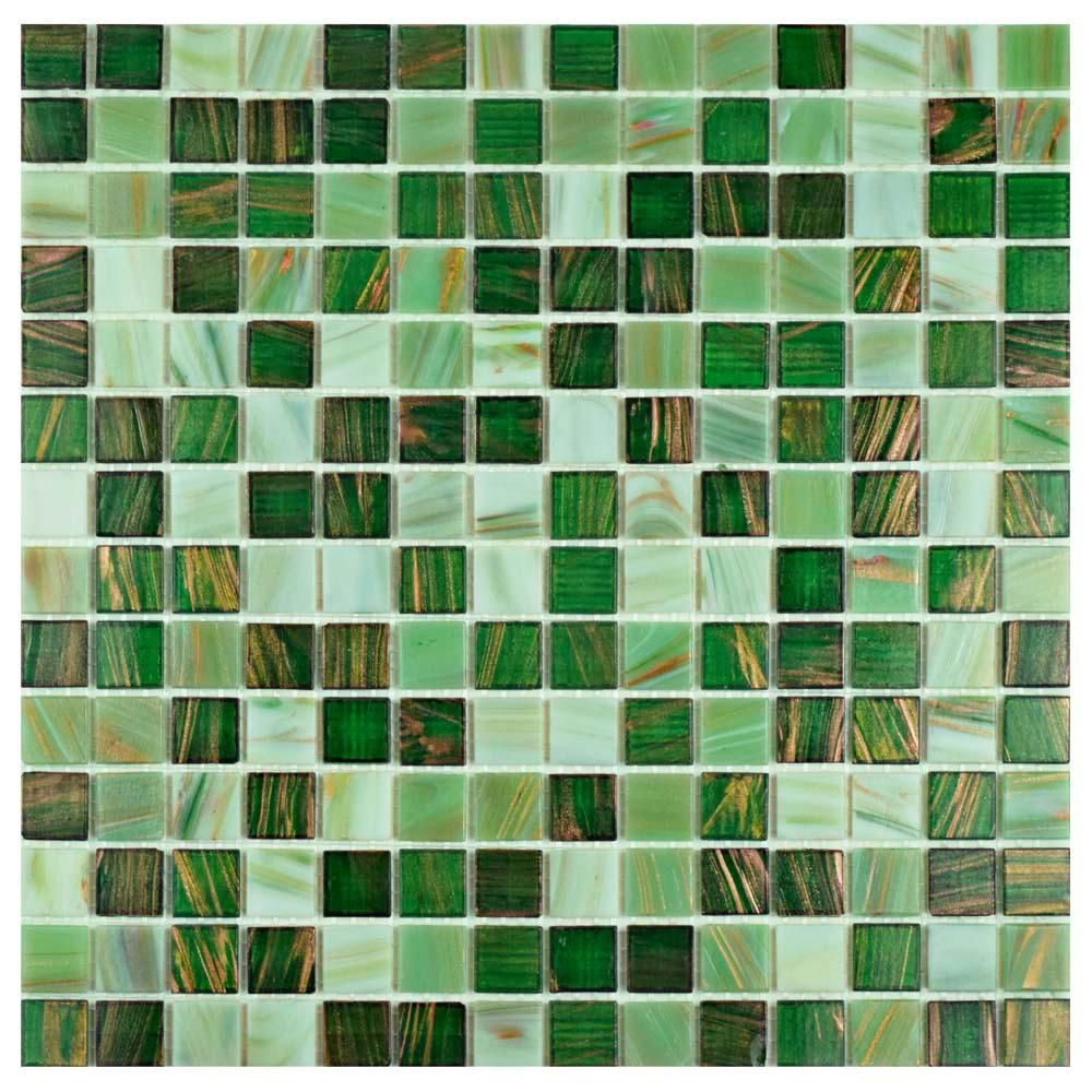 Merola Tile Take Home Sample Coppa Forest 6 In X Glass Mosaic S1gdrcofor The Depot 2021 Tiles Wall