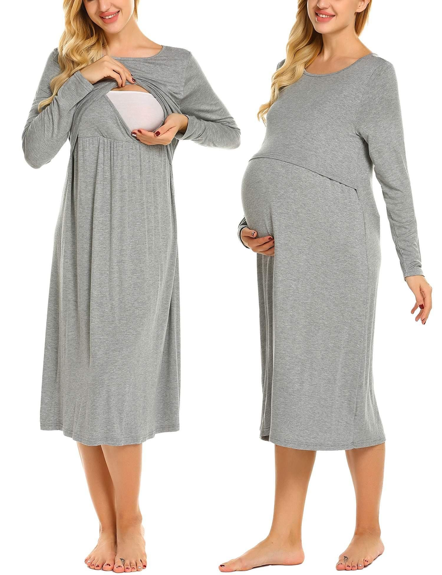 ab873bbdb2 Maternity Outfits - cool maternity dresses   Ekouaer Womens Layered Maternity  Dress Empire Waist Nursing Breastfeeding Dress     Much more info might be  ...