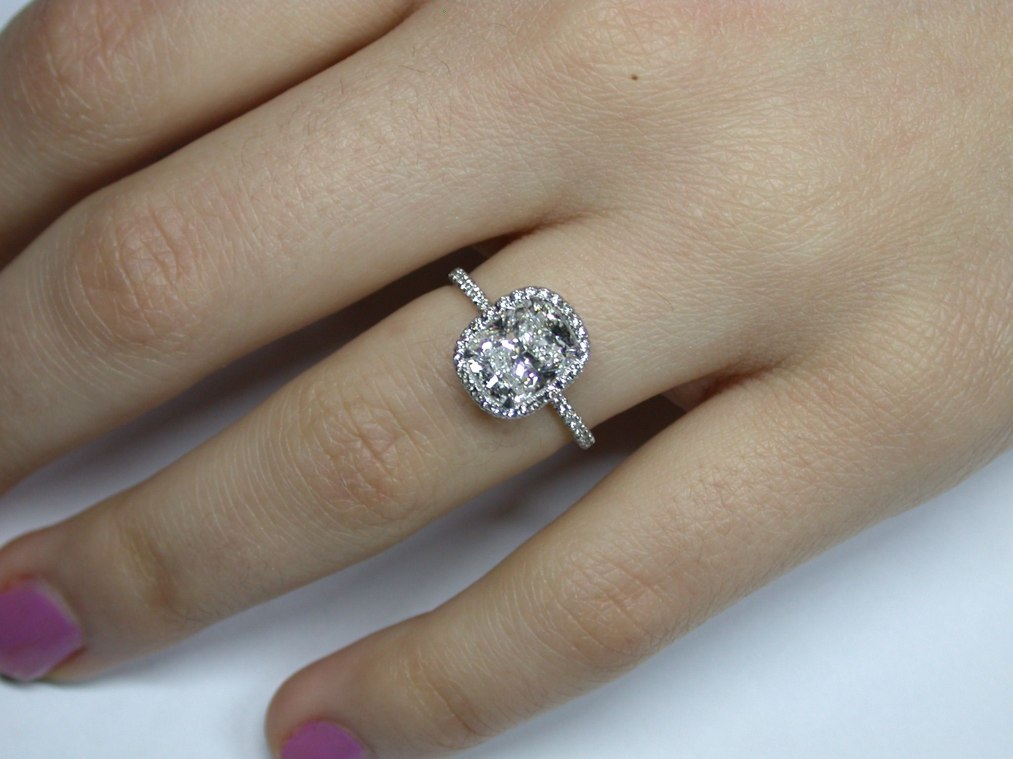 Harry Winston 204 Cushion Cut Halo Ring Original Price $95,000  I Do Now  I Don
