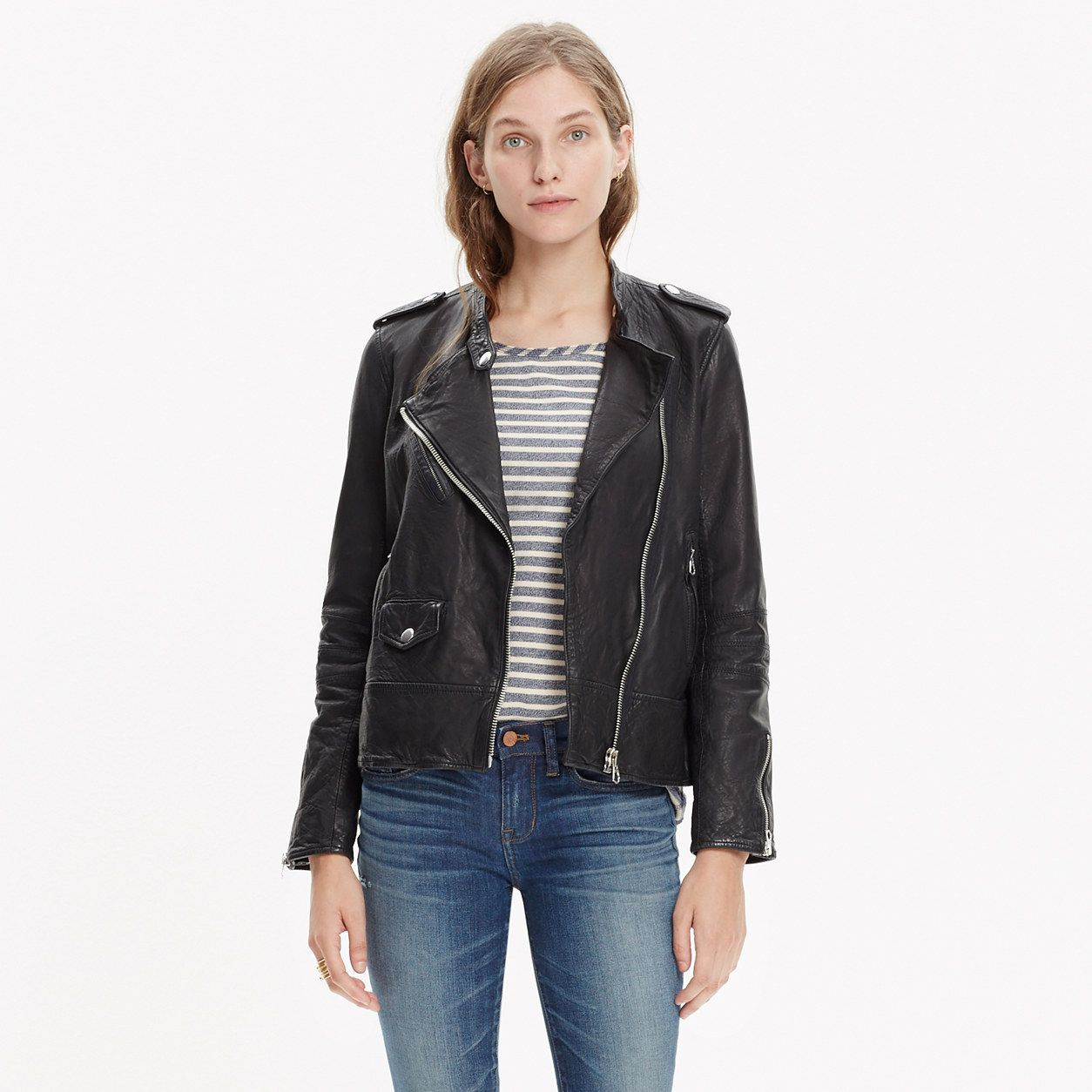 buying cheap details for another chance Washed Leather Motorcycle Jacket | Jackets, Clothes, Leather jacket