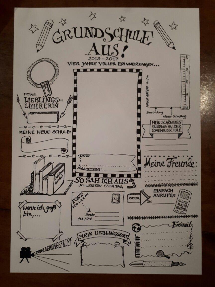 Abschlussbuch für die Grundschule   Schule   Pinterest