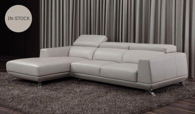 Capua Leather Corner Sofa With Adjustable Headrest Leather Corner Sofa Grey Leather Corner Sofa Best Leather Sofa