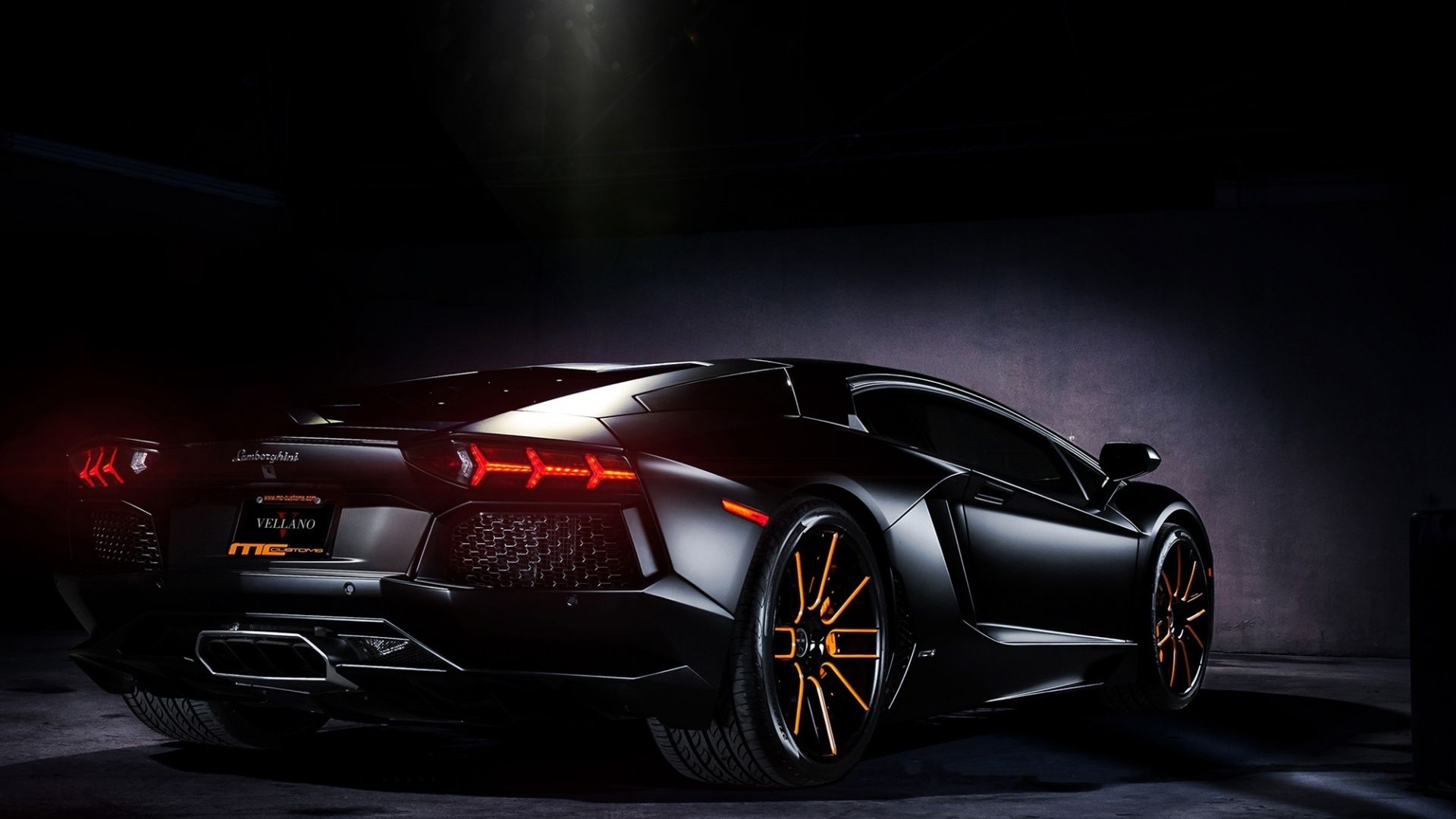 Black Lamborghini Aventador Hd Wallpaper Night Corvette