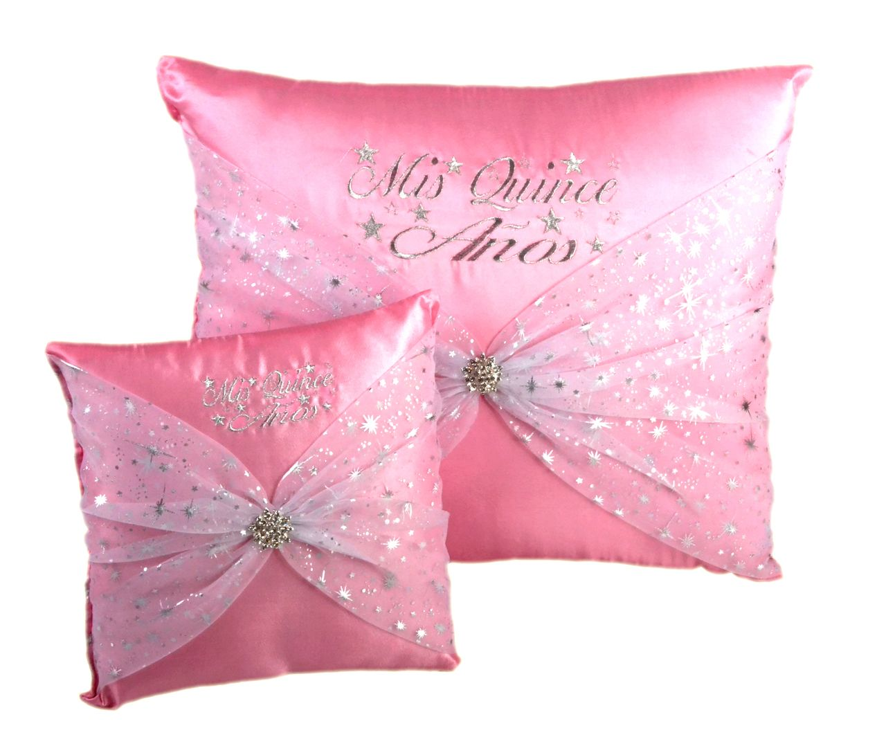 Star Quinceanera Kneeling, Slipper and Tiara Pillows - Two Pillows ...