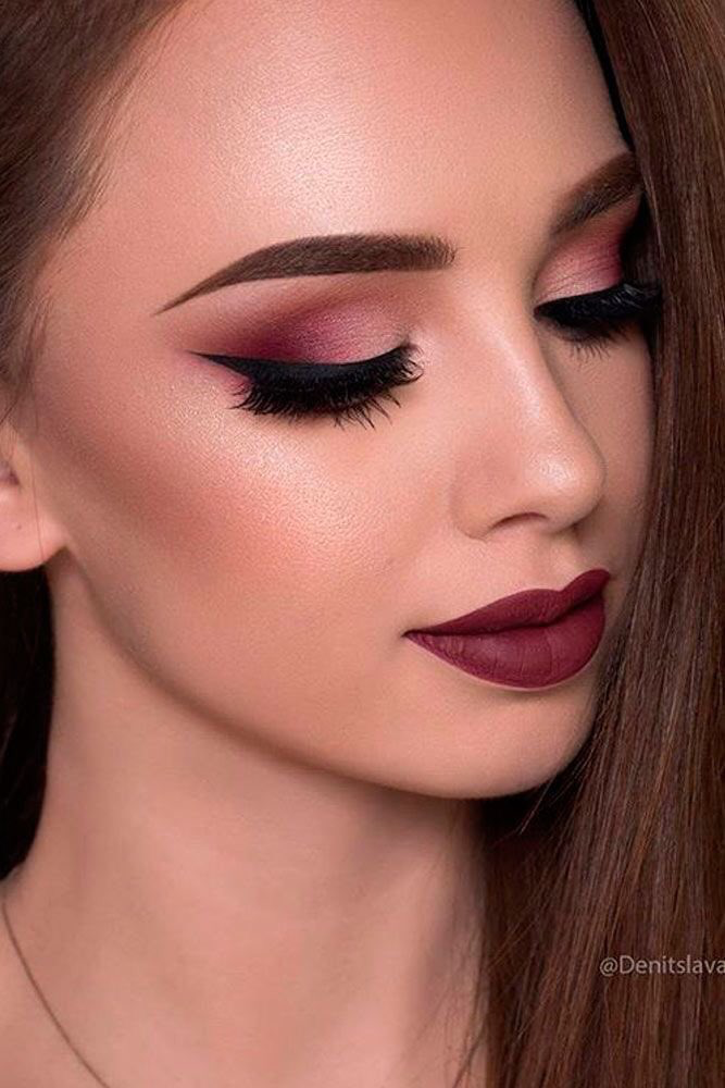 Pin by steph on Prom Dresses Burgundy makeup