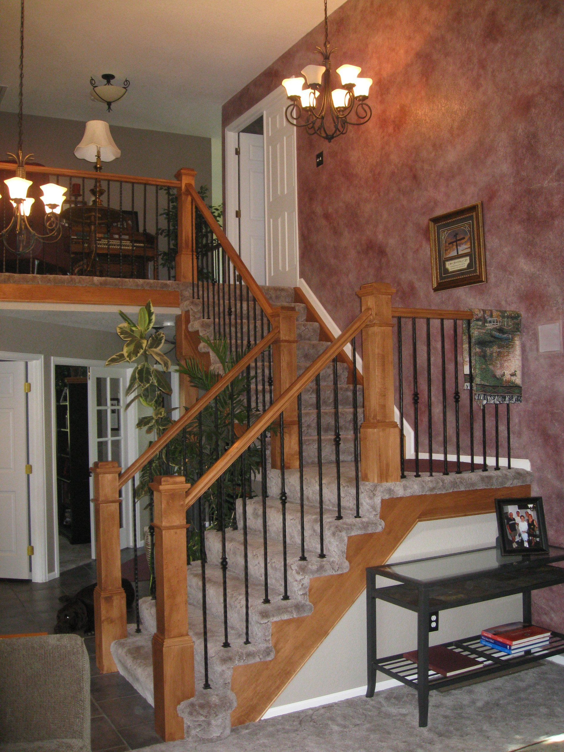 contemporary handrails for stairs
