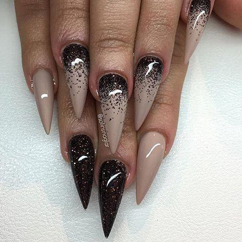 solinsnaglar  unghie unghie idee unghie glitter