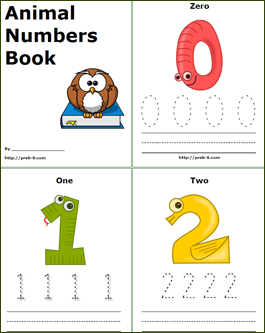 free printable PDF animal numbers Book number 1 to 10 Stuff to