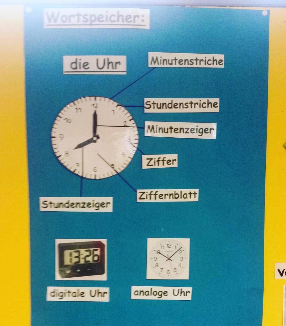 Unser Wortspeicher zum Thema Uhr. #grundschule #grundschullehrerin ...
