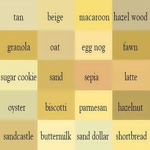 Beige Degrees Colors Name In English Color Names Color