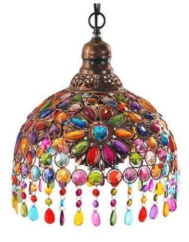 Lámpara colgante árabe cristal colores #decoracion #interiorismo ...