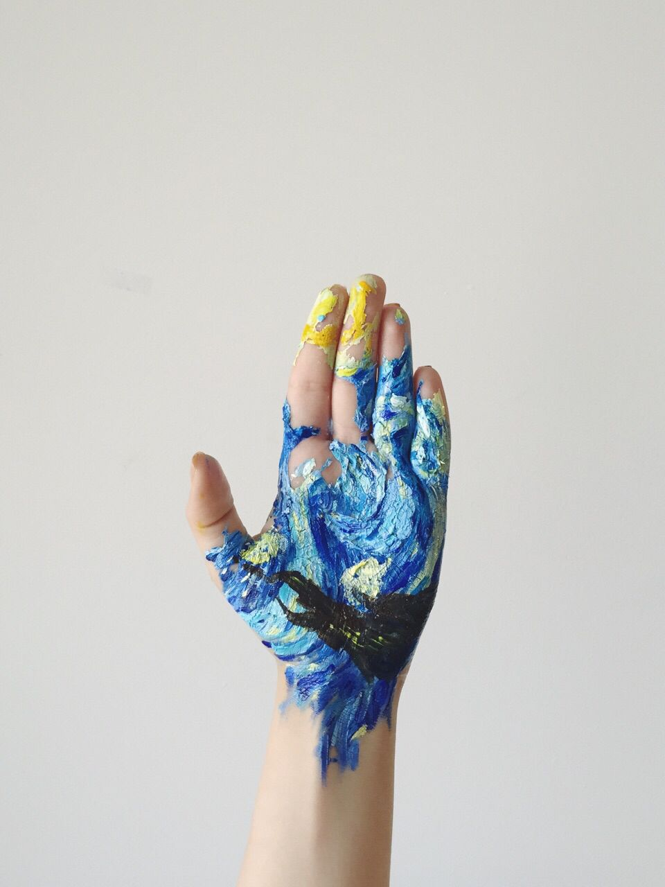 The Starry Night Vincent Van Gogh Hand Painting Artist Nora