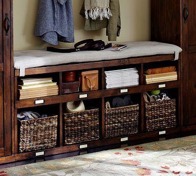 Olivia Bench Tuscan Chestnut Stain Potterybarn