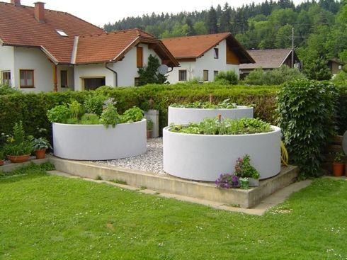 Raised Beds Made Of Concrete Concrete Gartengemusegemuse Raised Garten Garten Hochbeet Vorgarten Garten