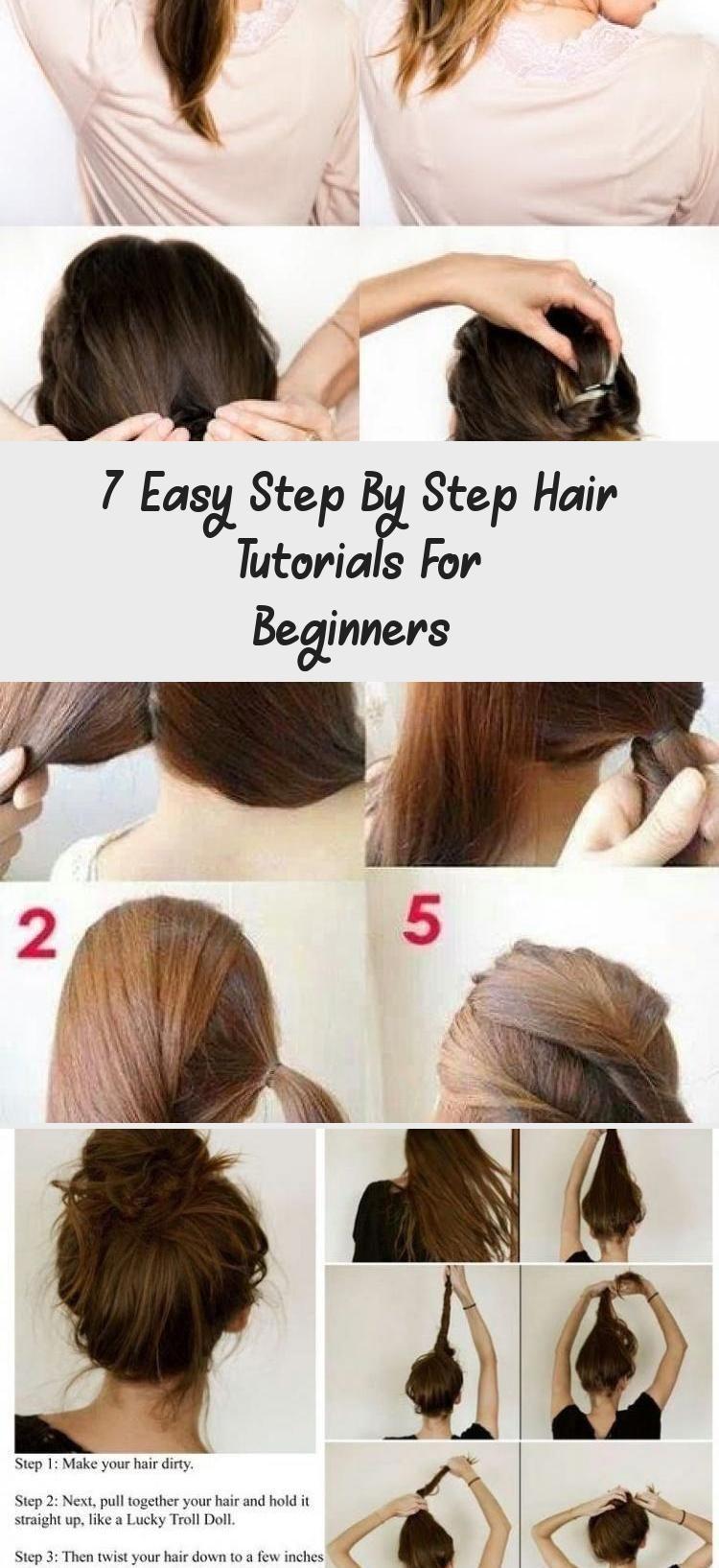 7 Easy Step By Step Hair Tutorials For Beginners Hairstyles Hair Tutorial Cool Easy Hairstyles Hair Videos Tutorials