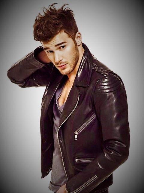 Good looking guy in biker jacket.  e61a70e6ffa4