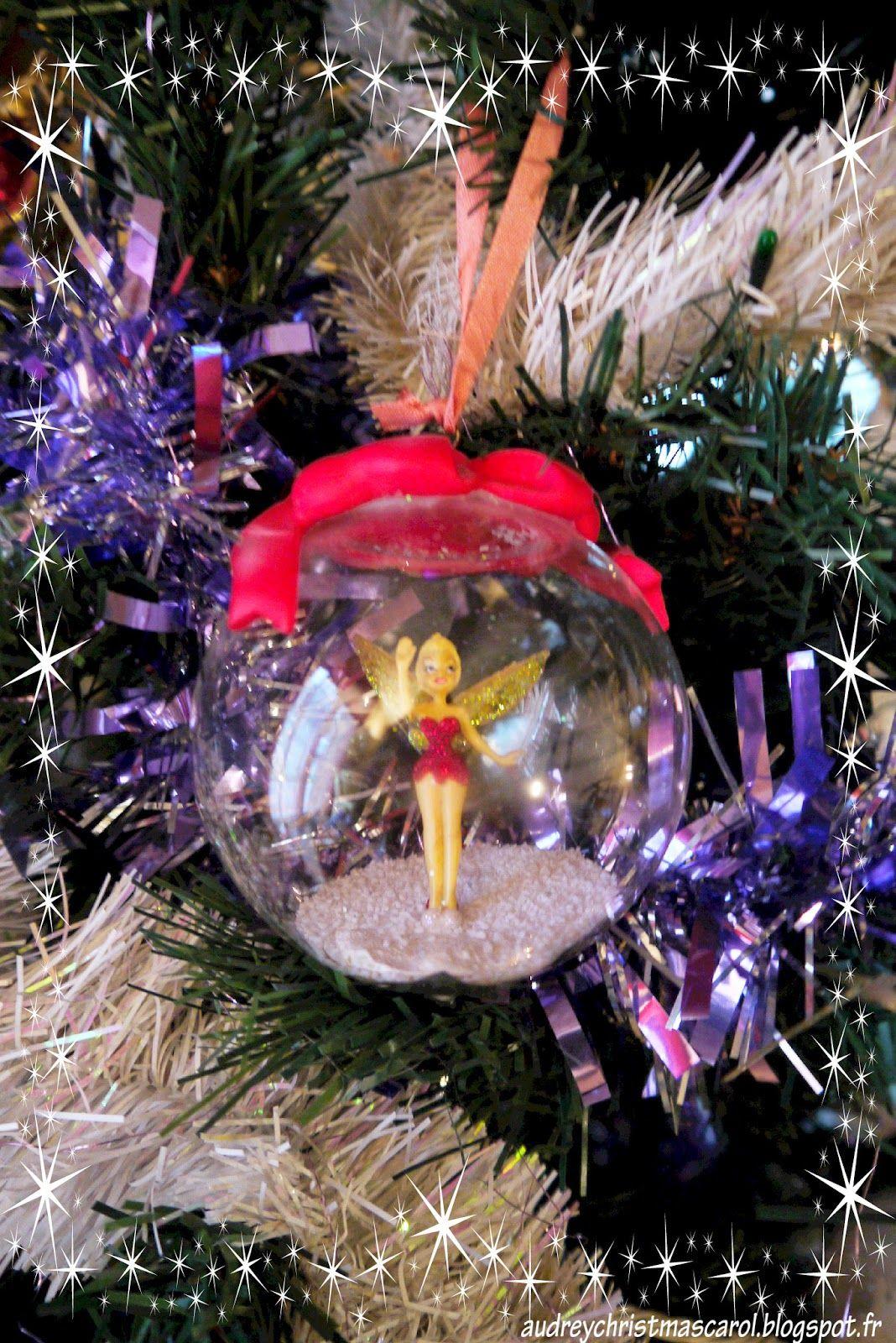 Tinkerbell christmas tree ornament boule de no l f e - Fee clochette noel ...