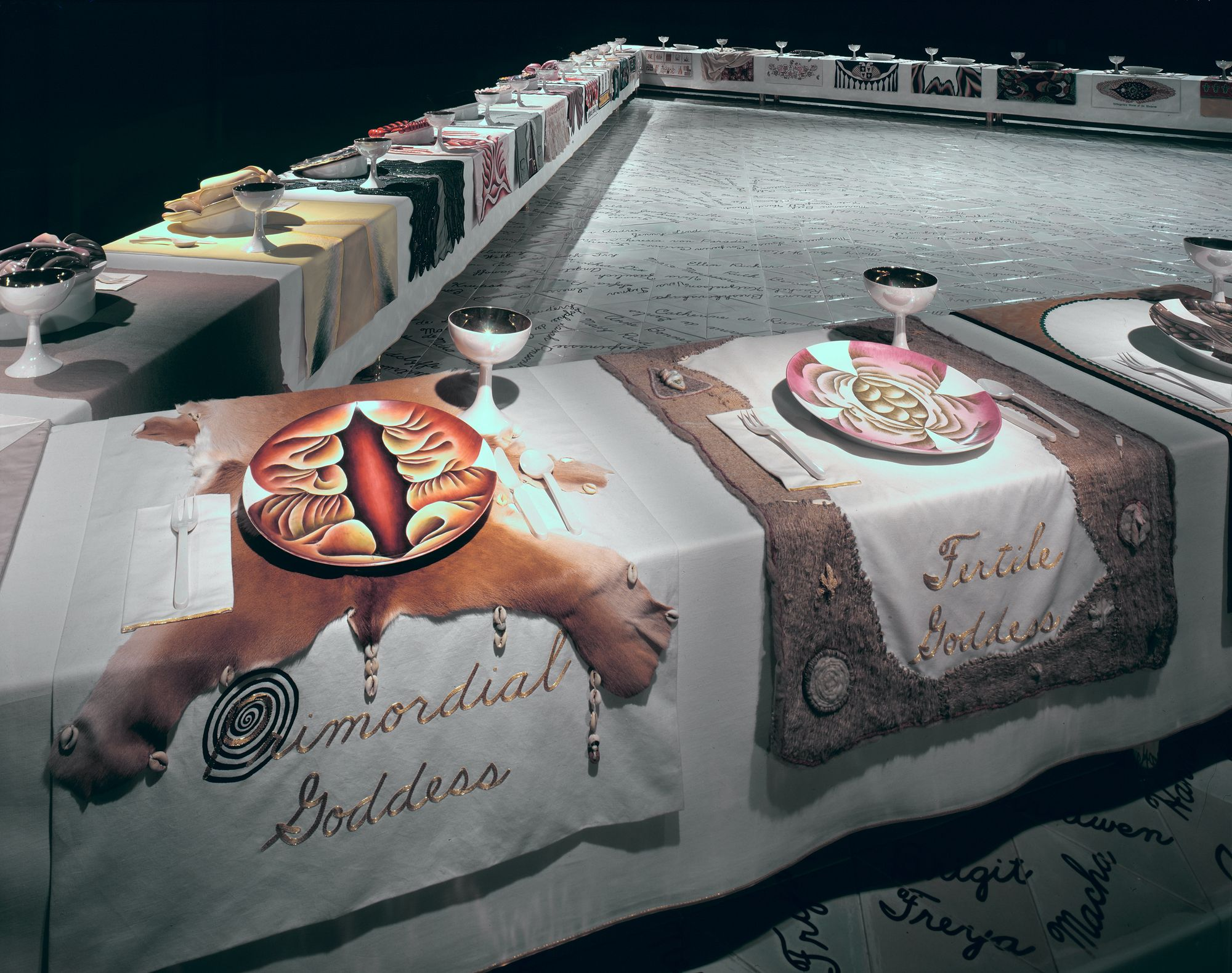 The Dinner Party Wing_1_Primordial_Fertile | Judy chicago, Dinner party,  Judy