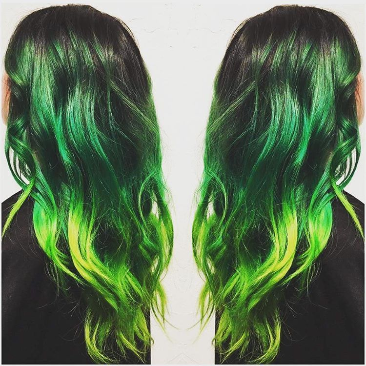 Top 25 Green Ombre Hair Colors In 2018 Green Hair Pinterest