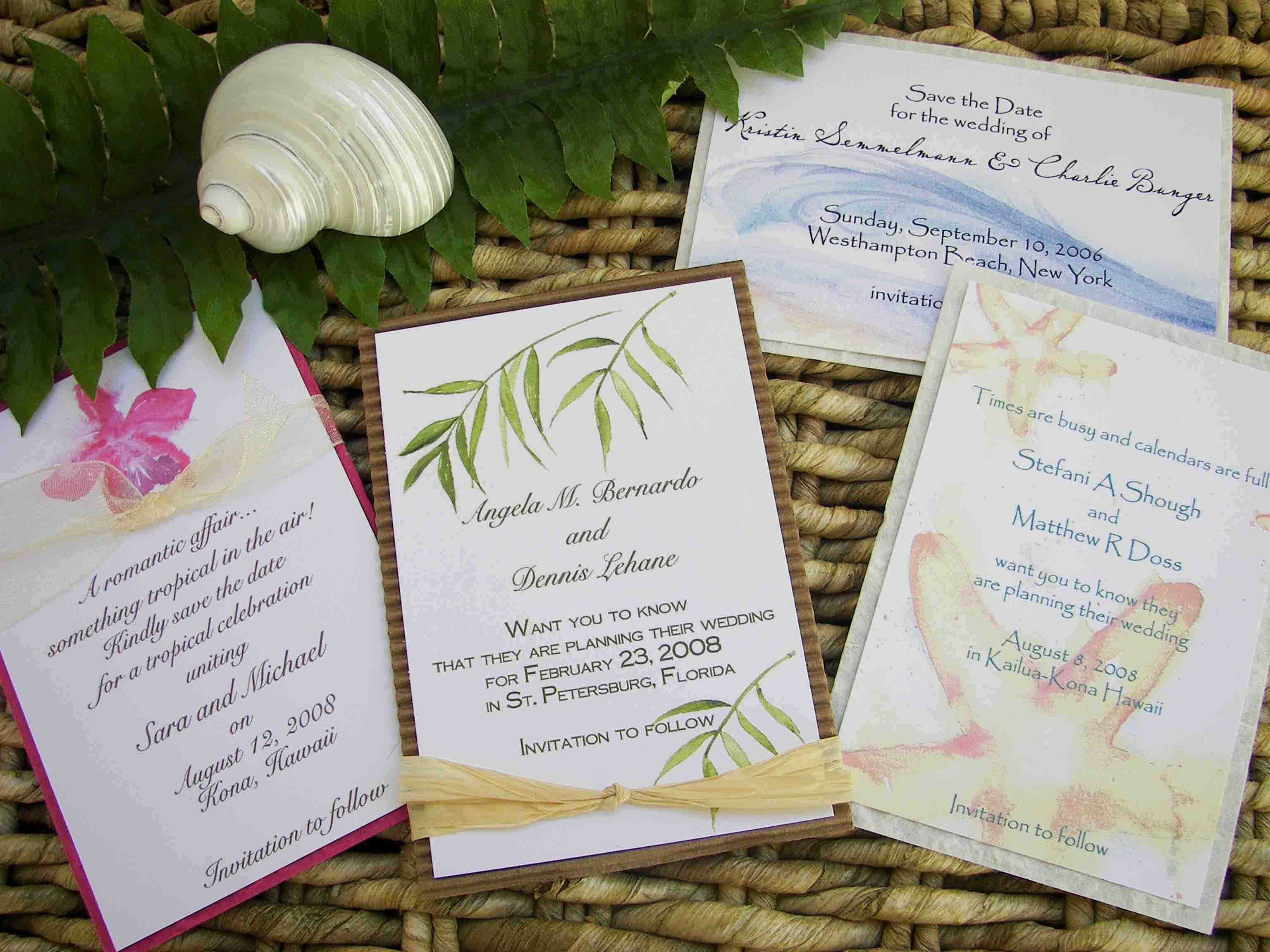 Tropical Beach Wedding Invitations Invitations Design Inspiration