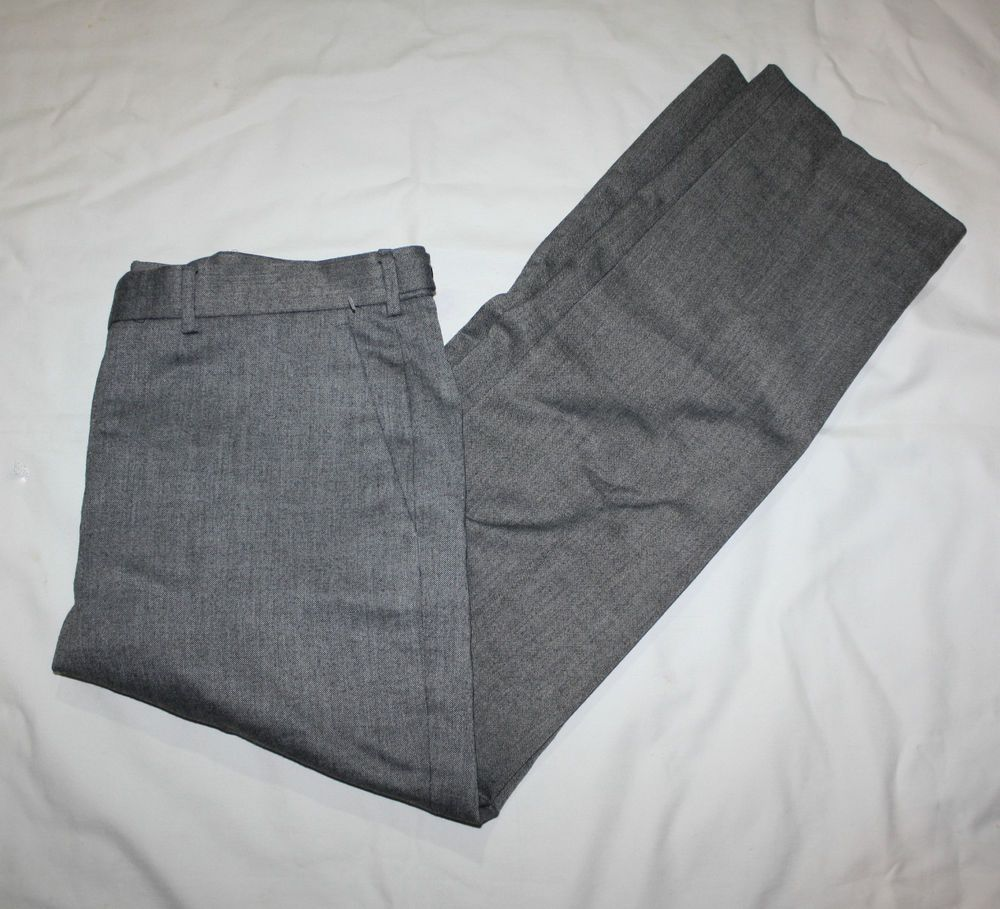 $88 EXPRESS MENS PRODUCER FIT MICRO DOT GRAY SUIT DRESS PANTS 36 X ...
