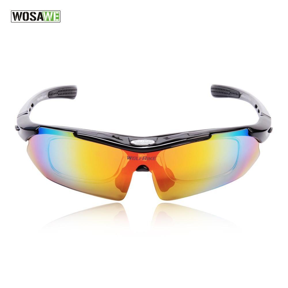 Wolfbike Polarized Cycling Glasses Bicycle Running Mtb Road Bike Fishing Eyewear 5 Lens Cycling Glasses Safety Sunglasses Sports Sunglasses
