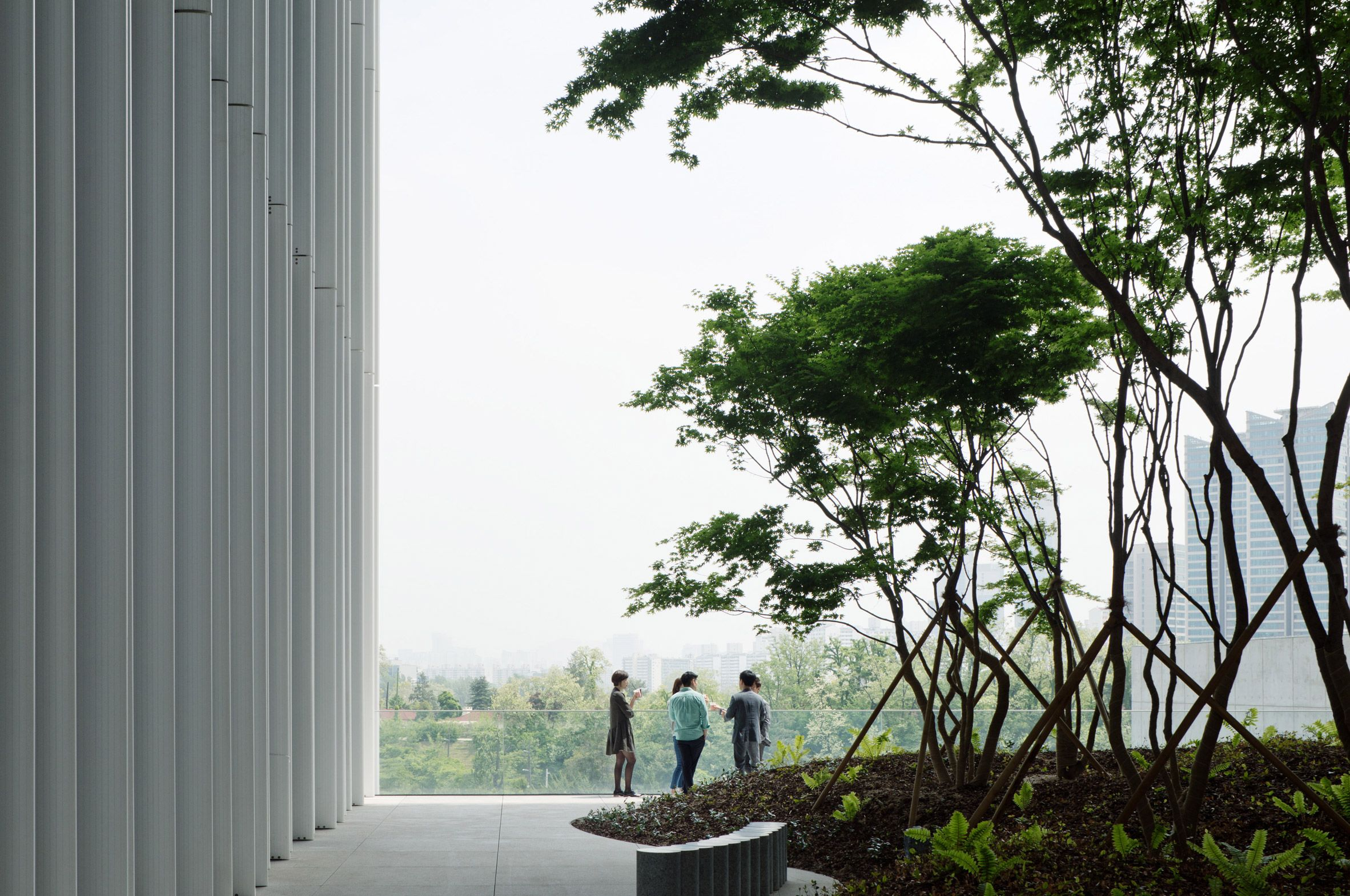 David Chipperfield Architects Completes Office With Hanging Gardens In Seoul David Chipperfield Architects Architect Roof Garden