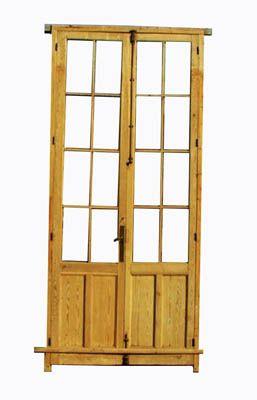 Puerta antigua de cuarterones y cristalera doors recacha for Puertas de cuarterones antiguas
