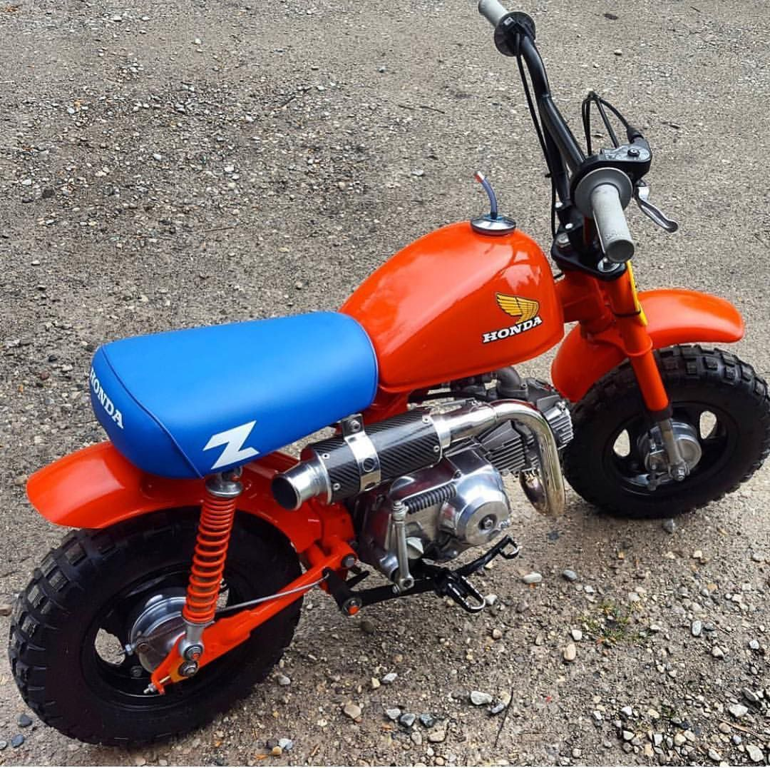 Honda Z50 Custom Monkeys Honda Z50 Custom In 2020 Mini Bike Mini Motorbike Honda Dirt Bike