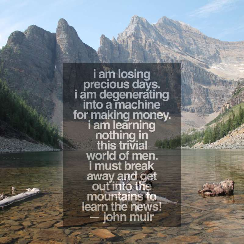 10+ Famous Backpacking Quotes Outdoor quotes, John muir