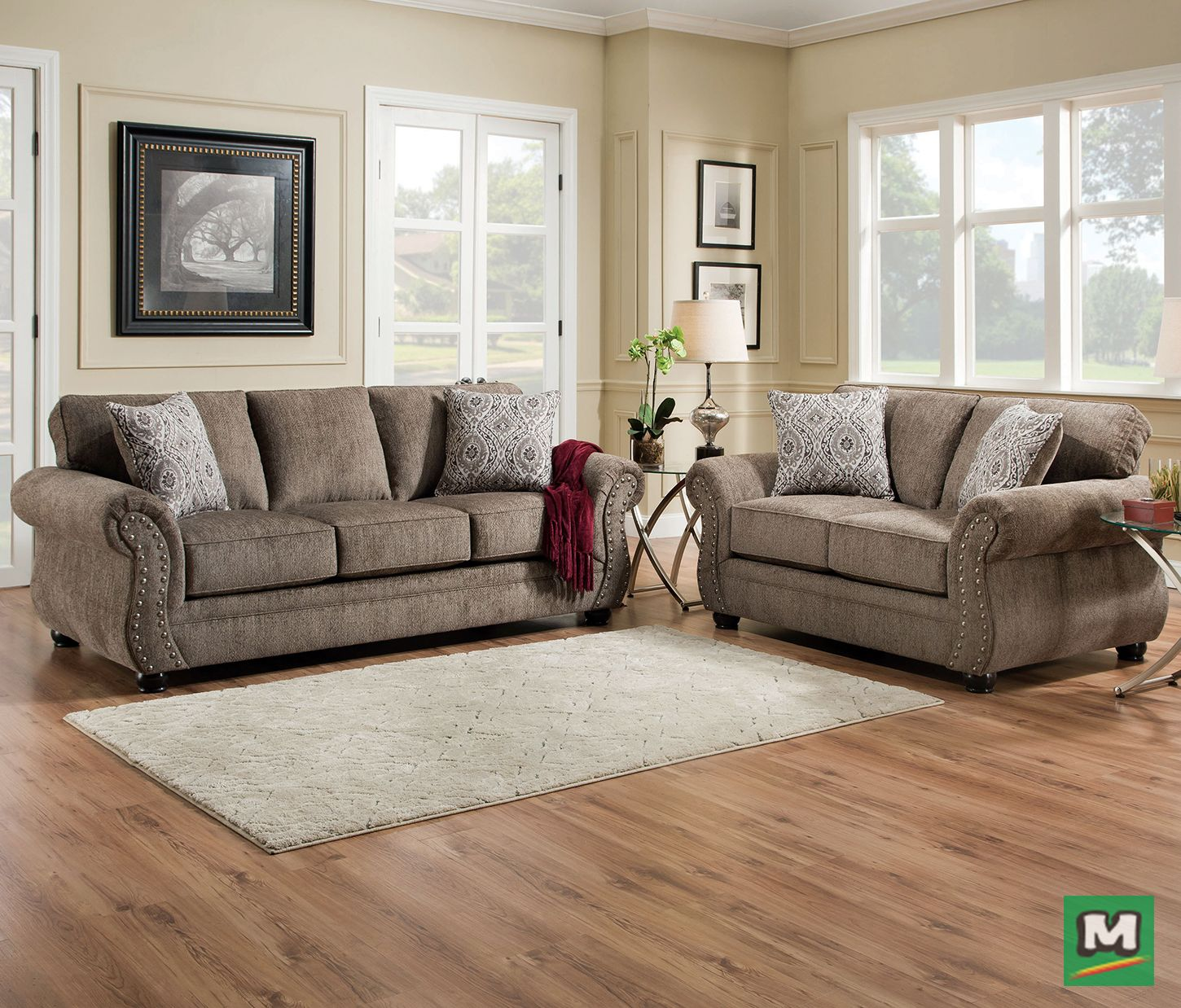 Have A Seat In This Simmons Beautyrest Fandango Sofa And