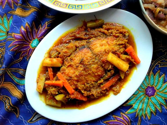 frozen wings: Acar Fish for Malaysian Food Fest