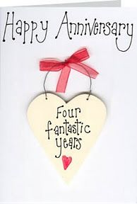Happy 4th Anniversary Greetings Pinterest Anniversary Cards