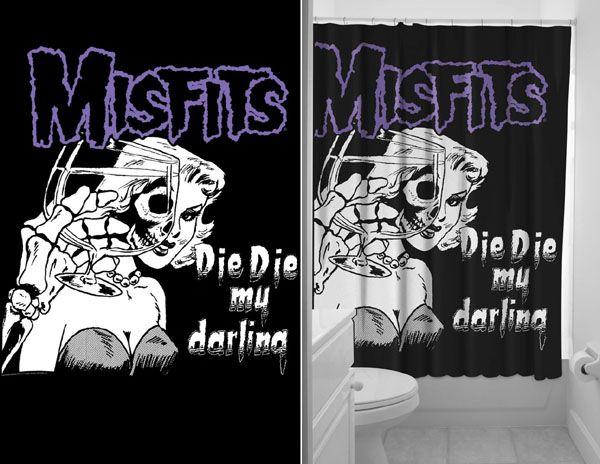 Misfits Die Shower Curtain By Sourpuss