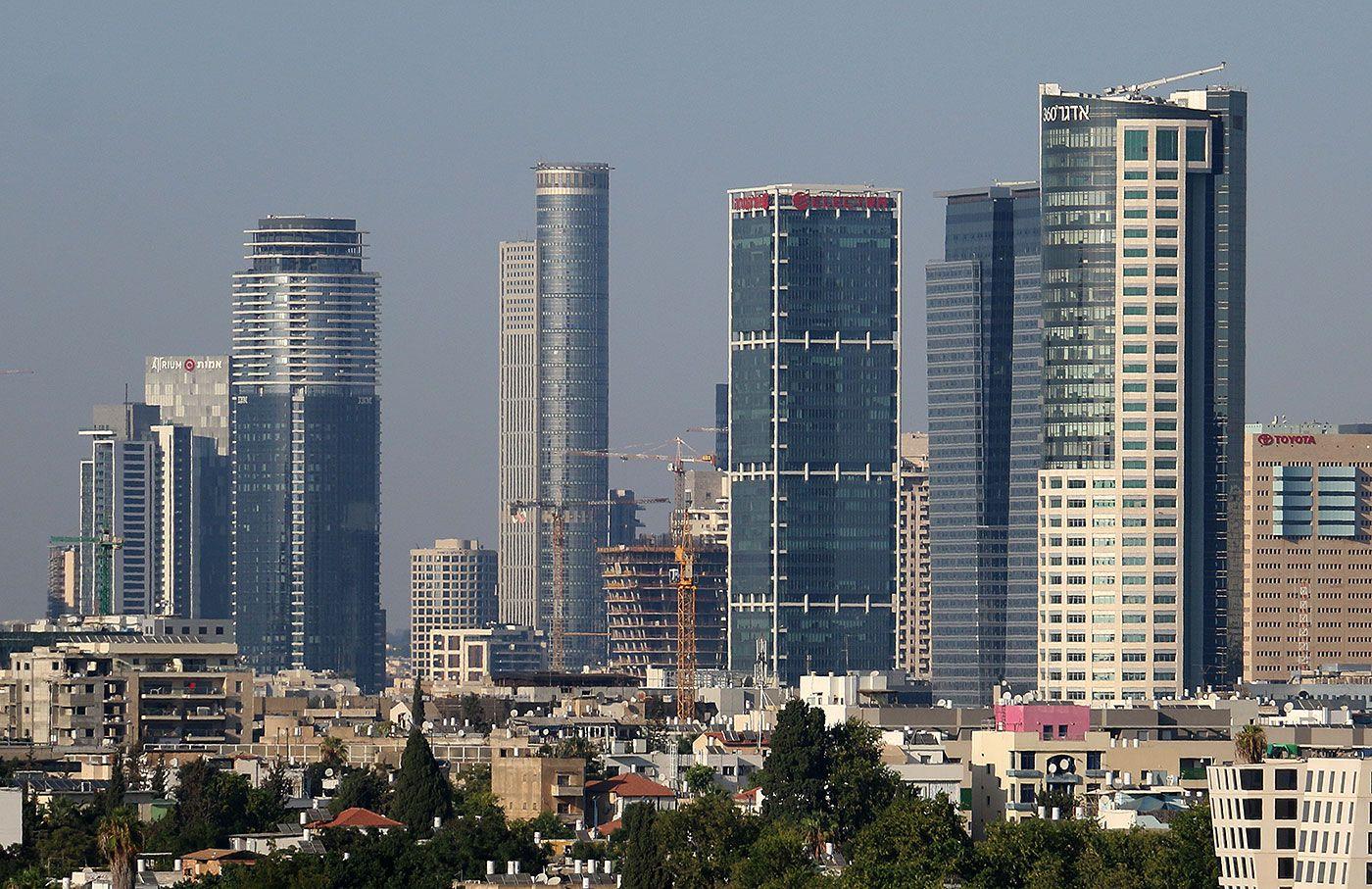 Skyscrapers Tall Towers New Buildings In Tel Aviv Israel
