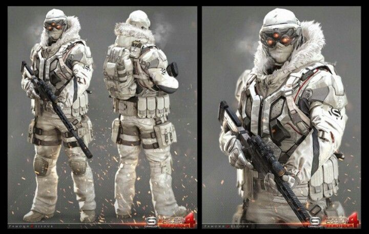 Modern Combat 4 - Snow Soldier Color ver.