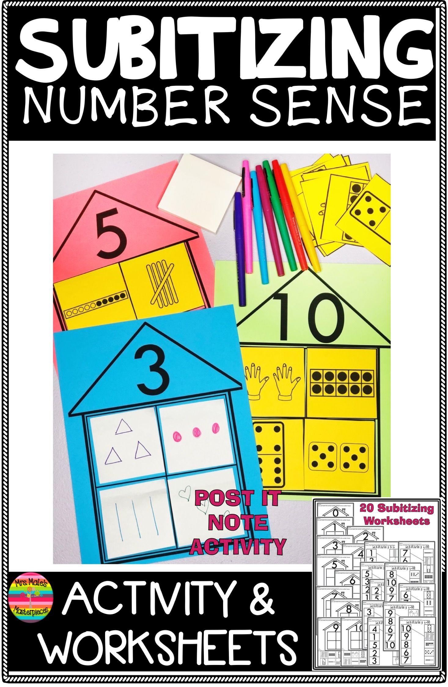 Subitizing Worksheets Number Sense In