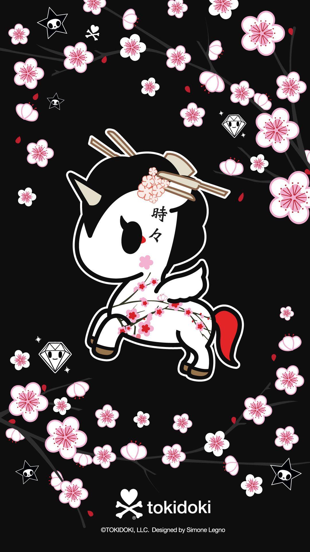 Tokidoki Unicorno Sakura Black Tokidoki In 2019 Kawaii