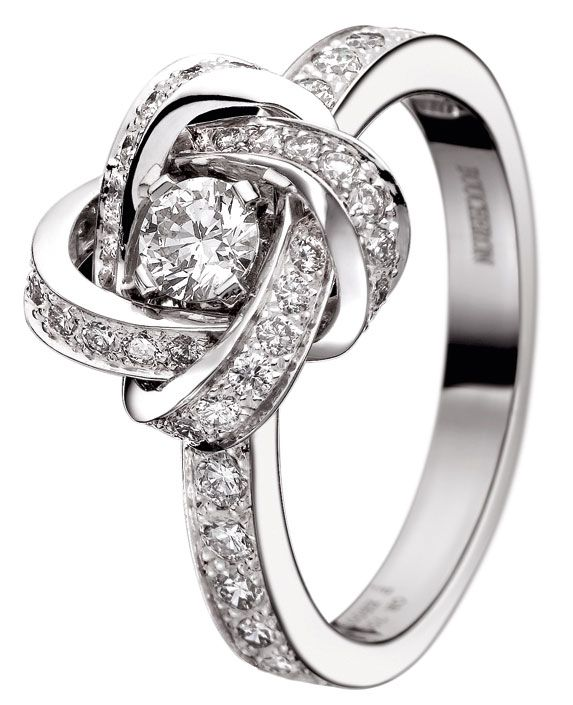 boucheron ava pivoine ring a love knot promise ring cute. Black Bedroom Furniture Sets. Home Design Ideas
