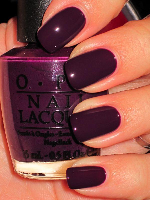 Black Swan Opi Plum Nails Dark Purple Deep Burgundy Nail
