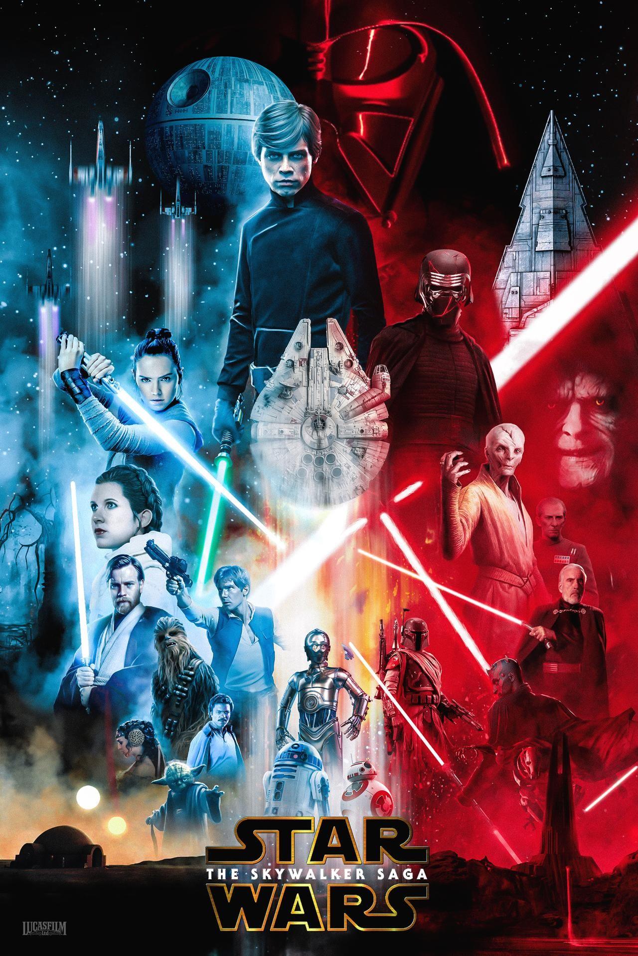 Star Wars The Skywalker Saga By Darksideofdesign On Deviantart In 2020 Star Wars Movies Posters Star Wars Pictures Star Wars Background