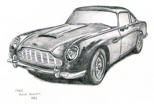 50s Aston Martin drawing | Auto Art | Pinterest | Aston martin and ...
